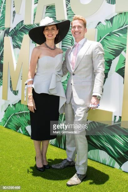 Marilyn Van Der Valk and Damien AnthonyRossi attend Magic Millions Raceday on January 13 2018 in Gold Coast Australia