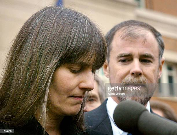 Marilyn Walker and Frank Lindh parents of American Taliban fighter John Walker Lindh speak to the media after their son made his first appearance in...