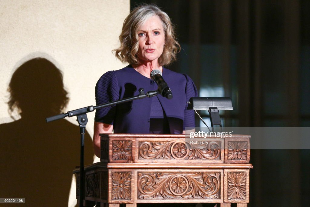 Marilyn Wells speaks onstage during the Stories From The Front Line charity program at the Ebell of Los Angeles on February 27, 2018 in Los Angeles, California.