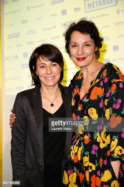 Marilyne Canto and Jeanne Balibar attend la Fete du Court Metrage on March 14 2018 in Paris France