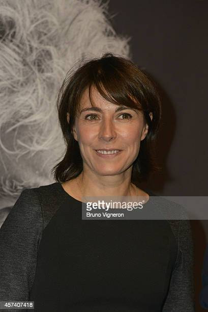 Marilyne Canto at gala in honor of Pedro Almodovar tonight in Lyon for the Lumiere Award 2014 on October 17 2014 in Lyon France