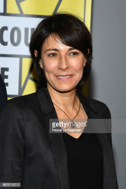 Marilyne Canto poses at La Fete Du Cour Metrage Photocall on March 14 2018 in Paris France