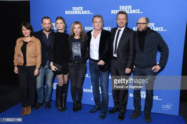 Marilyne CantoFrederic Quiring Jeanne Bournaud Sylvie Testud Franck Dubosc Michel Denisot and Laurent Bateau attend the Toute Ressemblance photocall...
