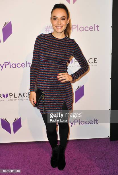 Marimar Vega attends the launch of Egoless Social Sharing App StoryPlace at Monk Space on December 06 2018 in Los Angeles California