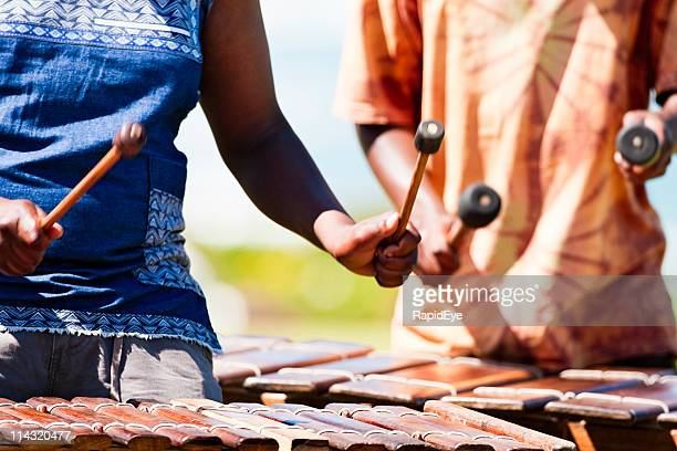 marimba players - percussion mallet stock pictures, royalty-free photos & images