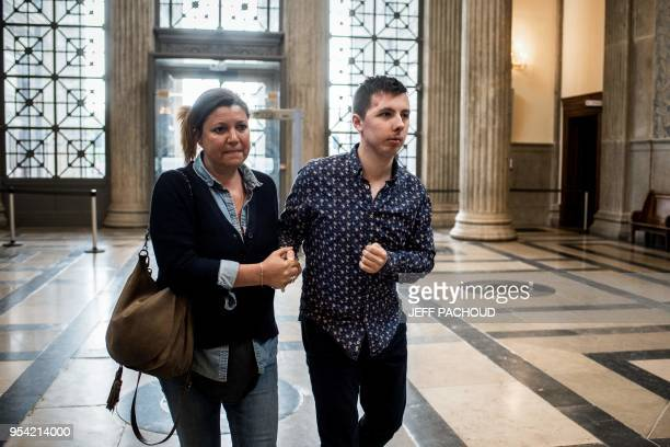 Marin arrives accompanied by a relative on May 3 2018 at the courthouse of Lyon central eastern France to attend the second day of the trial of his...