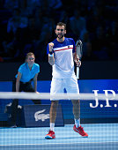 london england marin cilic croatia action