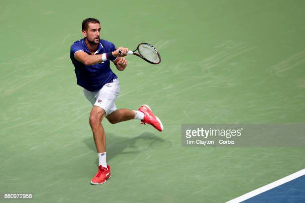 S Open August 28 DAY ONE Marin Cilic of Croatia in action against Tennys Sandgren of the United States during the Men's Singles round one match at...