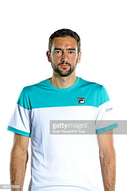 Marin Cilic of Croatia poses for portraits during the Australian Open at Melbourne Park on January 13 2018 in Melbourne Australia