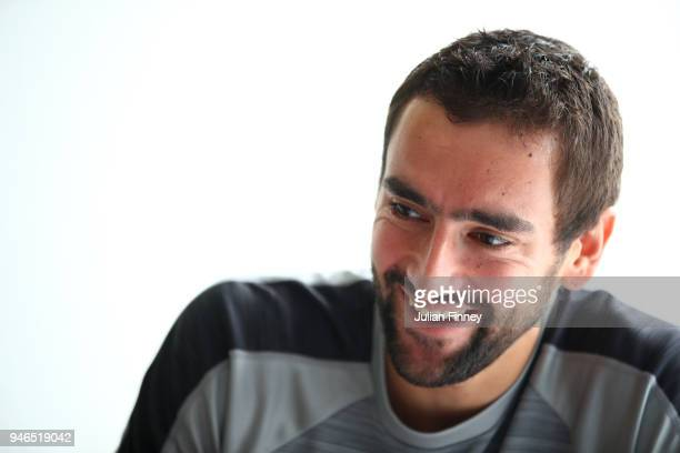 Marin Cilic of Croatia speaks to the media during an interview session during day one of ATP Masters Series Monte Carlo Rolex Master at MonteCarlo...