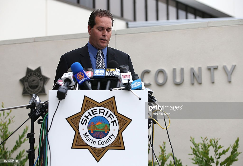 Marin County Sheriff Lt. Keith Boyd pauses as he speaks during a press conference following the autopsy of actor and comedian Robin Williams on August 12, 2014 in San Rafael, California. Academy Award winning actor and comedian Robin Williams was found dead in his Marin County home on Monday of an apparent suicide. He was 63 years old.