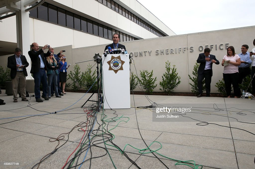 Marin County Sheriff Lt. Keith Boyd speaks during a press conference following the autopsy of actor and comedian Robin Williams on August 12, 2014 in San Rafael, California. Academy Award winning actor and comedian Robin Williams was found dead in his Marin County home on Monday of an apparent suicide. He was 63 years old.