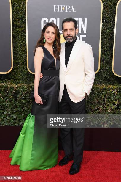 Marin Hinkle and Tony Shalhoub attend the 76th Annual Golden Globe Awards at The Beverly Hilton Hotel on January 6 2019 in Beverly Hills California