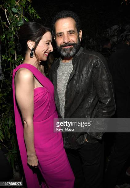 Marin Hinkle and Tony Shalhoub attend Vanity Fair Amazon Studios and Audi Celebrate The 2020 Awards Season at San Vicente Bungalows on January 04...