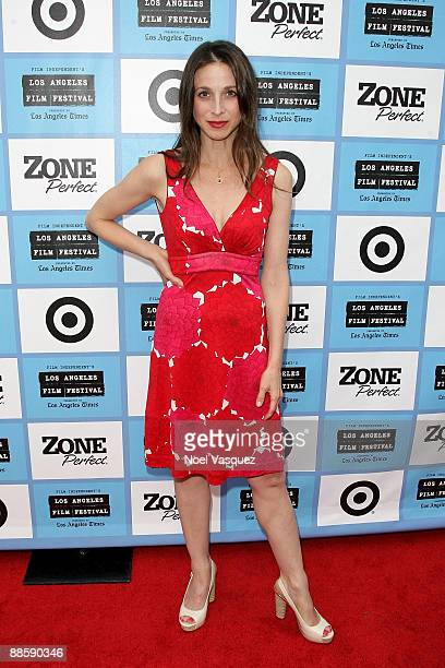 Marin Hinkle attends the 2009 Los Angeles Film Festival 'Weather Girl' premiere at The Majestic Crest on June 19 2009 in Los Angeles California
