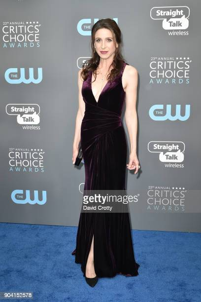 Marin Hinkle attends The 23rd Annual Critics' Choice Awards Arrivals at The Barker Hanger on January 11 2018 in Santa Monica California