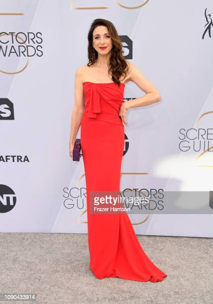 Marin Hinkle attends the 25th Annual Screen Actors Guild Awards at The Shrine Auditorium on January 27 2019 in Los Angeles California