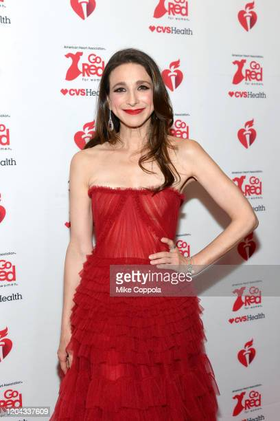 Marin Hinkle attends The American Heart Association's Go Red for Women Red Dress Collection 2020 at Hammerstein Ballroom on February 05 2020 in New...