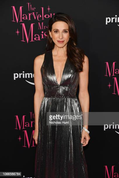 Marin Hinkle attends the The Marvelous Mrs Maisel New York Premiere at The Paris Theatre on November 29 2018 in New York City
