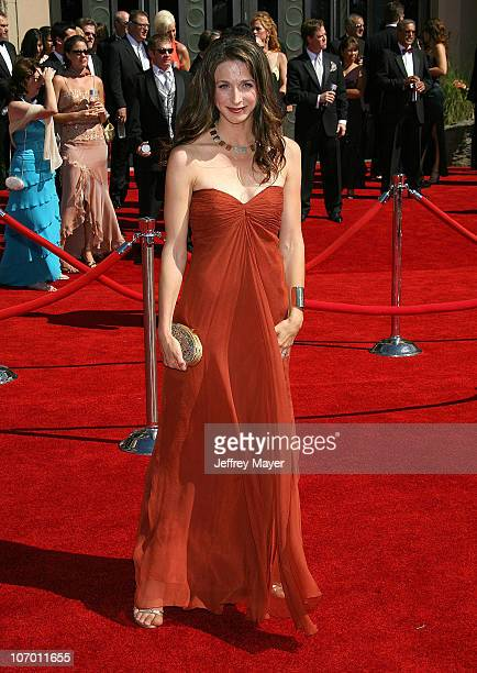 Marin Hinkle during 58th Annual Primetime Emmy Awards Arrivals at Shrine Auditorium in Los Angeles California United States