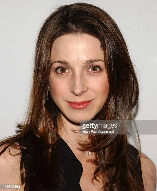 Marin Hinkle during CBS and UPN 2005 TCA Party Arrivals at Quixote Studios in Los Angeles California United States
