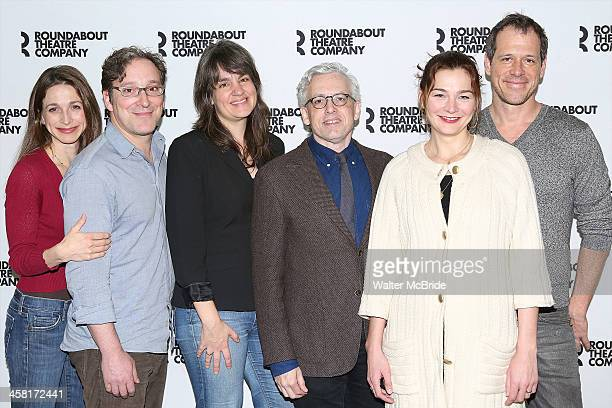 Marin Hinkle Jeremy Shamos Director Pam McKinnon Playwright Donald Margulies Heather Burns and Darren Pettie attend the Photo Call for the Roundabout...