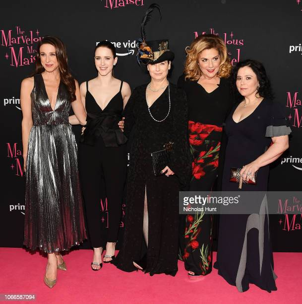 Marin Hinkle Rachel Brosnahan Amy Sherman Palladino Caroline Aaron and Alex Borstein attend the The Marvelous Mrs Maisel New York Premiere at The...