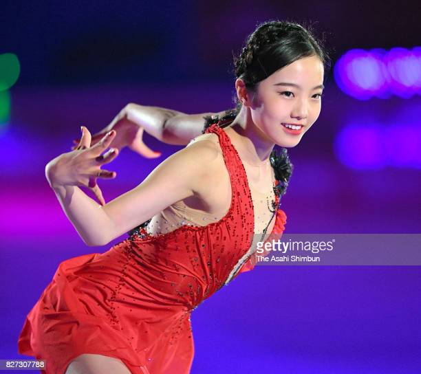 Marin Hoda performs during the Prince Ice World 2017 in Nikko at Nikko Kirifuri Ice Arena on August 5 2017 in Nikko Tochigi Japan