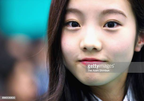 Marin Honda attends the draw ahead of the 86th All Japan Figure Skating Championships at the Musashino Forest Sports Plaza on December 20 2017 in...