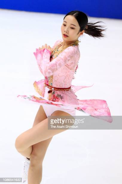 Marin Honda competes in the ladies free skating during day three of the 87th Japan Figure Skating Championships at Towa Yakuhin RACTAB Dome on...