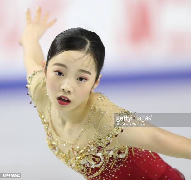 Marin Honda competes in the ladies free skating during day three of the 86th All Japan Figure Skating Championships at the Musashino Forest Sports...