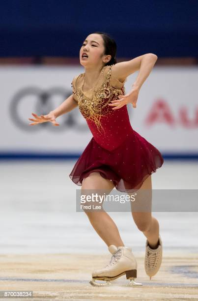 Marin Honda of Japan compete in the Ladies Free Skating on day two of Audi Cup of China ISU Grand Prix of Figure Skating 2017 at Beijing Capital...