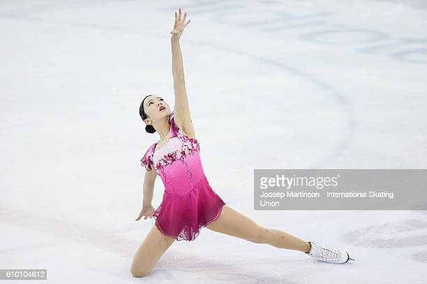 Marin Honda of Japan competes during the Junior Ladies Free Skating on day three of the ISU Junior Grand Prix of Figure Skating on September 24 2016...