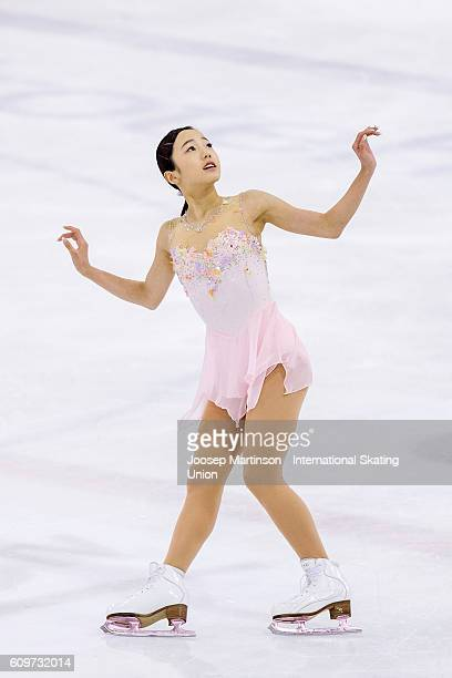 Marin Honda of Japan competes during the Junior Ladies Short Program on day one of the ISU Junior Grand Prix of Figure Skating on September 22 2016...