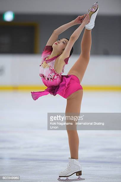 Marin Honda of Japan competes in the junior women's free program during the ISU Junior Grand Prix of Figure Skating Yokohama on September 11 2016 in...