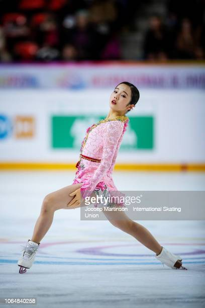Marin Honda of Japan competes in the Ladies Free Skating during day 2 of the ISU Grand Prix of Figure Skating Internationaux de France at Polesud Ice...