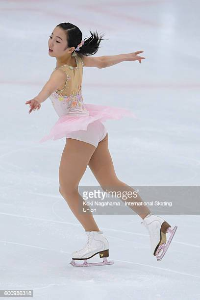 Marin Honda of Japan competes in the women's short program during the ISU Junior Grand Prix of Figure Skating Yokohama on September 9 2016 in...
