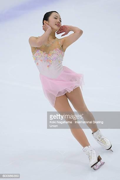 Marin Honda of Japan competes in the women's short program during the ISU Junior Grand Prix of Figure Skating Yokohama on September 9 2016 in...
