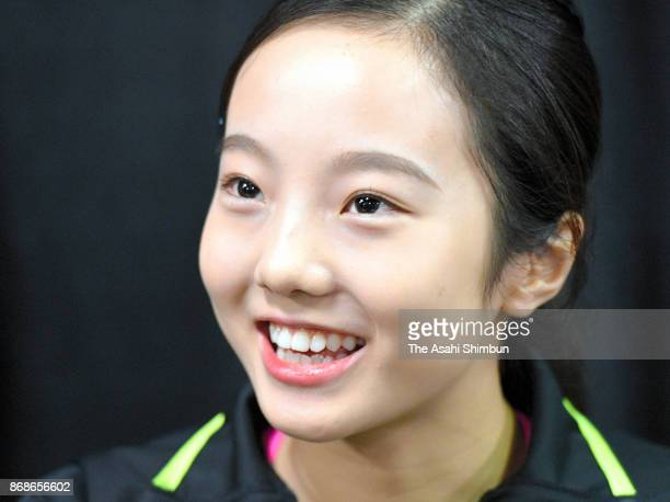 Marin Honda of Japan is seen prior to the gala exhibition during day three of the ISU Grand Prix of Figure Skating at Brandt Centre on October 29...