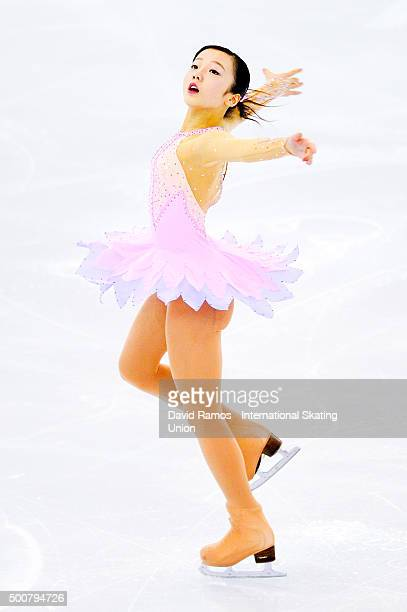 Marin Honda of Japan performs during the Junior Ladies short program final during day one of the ISU Grand Prix of Figure Skating Final 2015/2016 at...