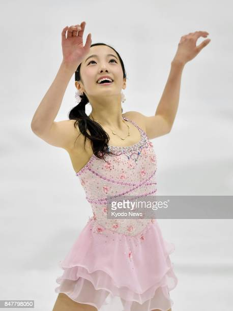 Marin Honda of Japan performs during the short program at the US International Figure Skating Classic in Salt Lake City Utah on Sept 15 2017 Honda...