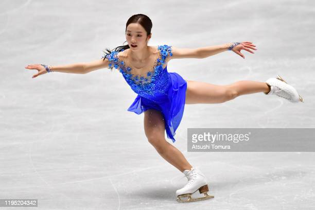 Marin Honda of Japan performs her routine in Ladies free skating during day three of the 88th All Japan Figure Skating Championships at the Yoyogi...