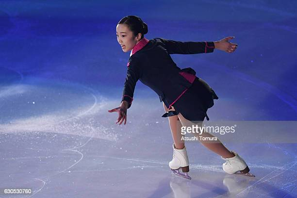 Marin Honda of Japan performs her routine in the exhibition during the Japan Figure Skating Championships 2016 on December 26 2016 in Kadoma Japan