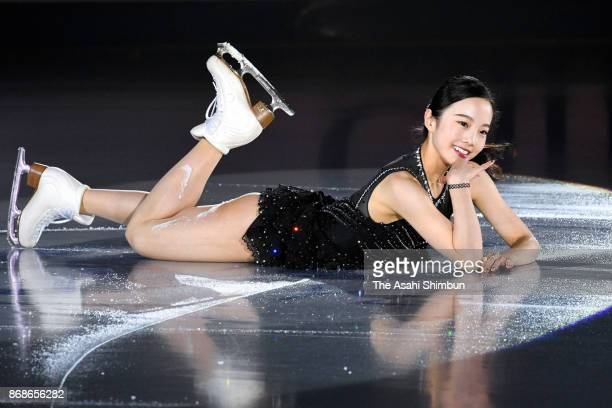 Marin Honda of Japan performs in the gala exhibition during day three of the ISU Grand Prix of Figure Skating at Brandt Centre on October 29 2017 in...