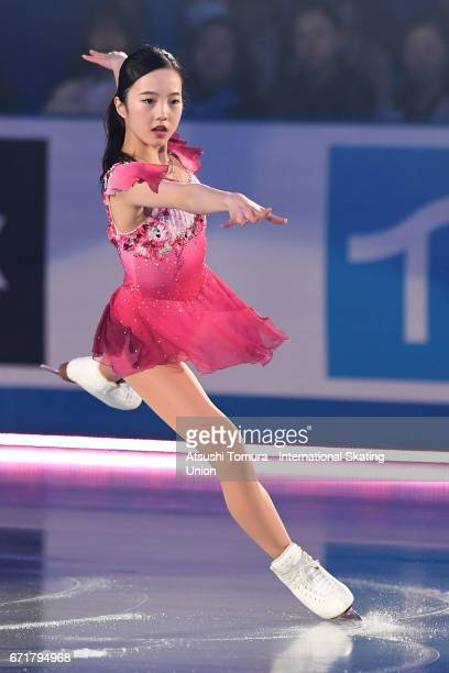 Marin Honda of Japan performs in the gala exhibition during the day 4 of the ISU World Team Trophy 2017 on April 23 2017 in Tokyo Japan
