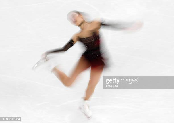 Marin Honda of Japan performs in the Ladies Short Program during the ISU Grand Prix of Figure Skating Cup of China Day 1 at on November 8 2019 in...