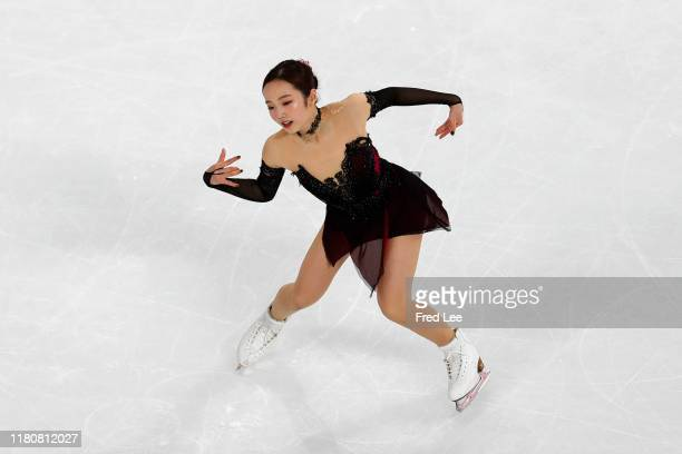Marin Honda of Japan performs in the Ladies Short Program during the ISU Grand Prix of Figure Skating Cup of China Day 1 at on November 8, 2019 in...