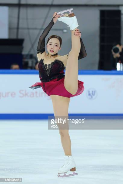 Marin Honda of Japan performs in the Ladies Short Program during the ISU Grand Prix of Figure Skating Cup of China at Huaxi Sports Center on November...