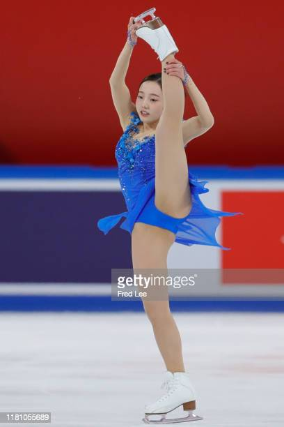 Marin Honda of Japan performs Ladies Free Skating during the ISU Grand Prix of Figure Skating Cup of China Day 2 at Huaxi Sports Center on November 9...