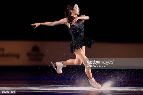 Marin Honda of Japan skates her exhibition program at the ISU Grand Prix of Figure Skating's Skate Canada International at Brandt Centre in Regina...